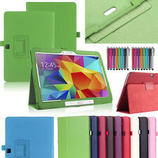"""Tab 4 Samsung Galaxy Leather Smart Stand Case Cover 4 10.1"""" SM-T530 T531 T535"""