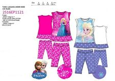 OFFERTA COMPLETO VESTITOT.SHIRT+PANTALON BIMBA FROZEN DISNEY ORIGINALE COLORATO