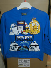tee shirt manches longues angry birds star wars taille 4,6,8,10 et 12 ans neuf
