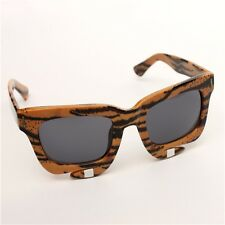 Womens New Vintage Tiger Stripe Style Sunglasses Wayfarer Retro Eyewear Ladies