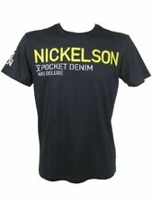 Nickelson Mens T-Shirt S/S Stitched Chest Logo Black