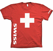 Fan T-Shirt, Schweizer Kreuz, SWISS CROSS, Gr. S-XXL+