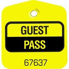 Recreational Guest Pass Yellow, Package Of 100