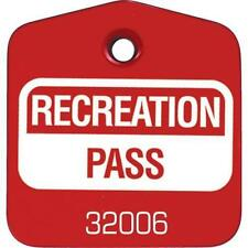 Recreational Pass Red, Package Of 100