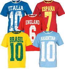 WORLD CUP 2014 FOOTBALL ENGLAND / ARGENTINA / BRAZIL / SPAIN / ITALY T- SHIRT