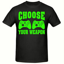 CHOOSE YOUR WEAPON CHILDRENS T SHIRT,GAMING T SHIRT, SIZES 5-15 YEARS