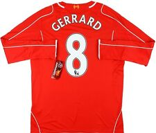 Maglia Calcio Home Football Shirt Gerrard #8 Liverpool 2014-2015 Warrior