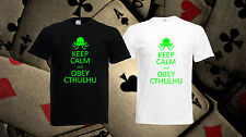 Keep Calm And Obey Cthulhu t-shirt Funny tshirt Gift t shirt *Free UK Delivery*