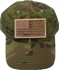 Operator Cap W/ Flag Patch Special Forces Military Adjustable
