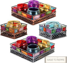 MOROCCAN INDIAN BEJEWELLED VILLAGE & YANKEE CANDLE VOTIVE / TEALIGHT HOLDER LAMP