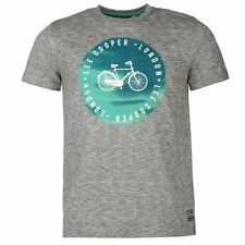 Lee Cooper Mens Print T-Shirt Grey New With Tags
