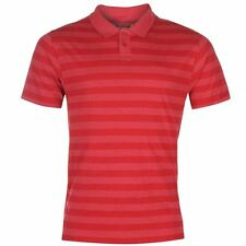 Lee Cooper Mens Yarn Dye Polo Shirt Red New With Tags