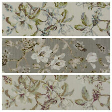 Porter & Stone Isabelle Floral Cotton Curtain Upholstery Fabric | 3 Colours