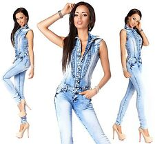 Sexy New Women's Denim Blue Jeans Playsuit Jumpsuit Overall Skinny Slim Z 501