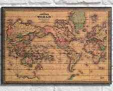 WOOD ART World Map Wood wall art Wood Decor Rustic Panel effect World Map Gift