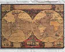 WOOD ART WORLD Map Wood wall art Wood print Rustic Panel effect Repo World Map