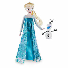 "NEW Disney Store Frozen Elsa Classic 12"" Doll with Olaf Figure"