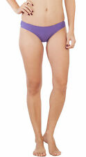 Soie Purple Grapes Cotton / Spandex Solid Mid rise Women's Brief