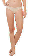 Soie Beige Cotton / Spandex Solid Mid rise Women's Brief