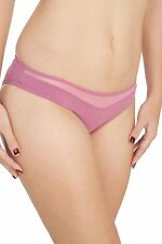 Soie Mauve Cotton / Spandex Solid Mid rise Women's Brief