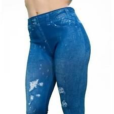 RIPPED LOOK BLUE THANE CARESSE JEANS  JEGGINGS SHAPEWEAR SIZES 14/16 16/18