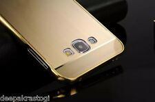Luxury Brushed  Acrylic Back Cover With Metal Bumper  For Samsung Galaxy A8