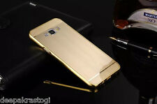 Luxury Brushed  Acrylic Back Cover With Metal Bumper  For Samsung Galaxy J5