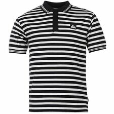Lonsdale Mens Yarn Dye Stripe Polo Shirt Navy/White New With Tags