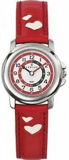 Certus - 647451-Children's Teaching Quartz Watch-White Face-Red Leather Strap
