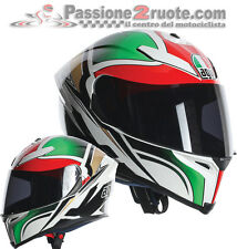 Helmet fiber moto Agv K5 K-5 Roadracer white red green integralhelm casque casco