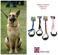 STRONG DOG LEAD With COMFORT GRIP Flat Nylon Pet Puppy Leash Handle Clip Collar