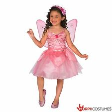 Girls Pink Fairy Fancy Dress Costume incl Wing Great for Halloween or Book Week