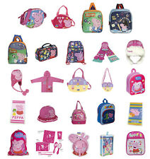 Brand New With Tags PEPPA PIG & GEORGE Kids Bag Lunchbox Hat Raincoat - FREE P&P