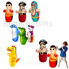 NEW 3D INFLATABLE PUNCH BOP BAG BOXER PIRATE OUTDOOR INDOOR KIDS TOYS BOXING TOY