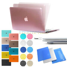 Hard Rubberized Case+ Keyboard Cover For Apple MacBook Air 11/13 Pro Retina13/15