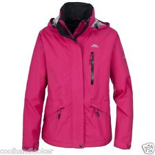 Trespass Numbered Waterproof Ladies Rain Jacket Windproof Breathable Warm
