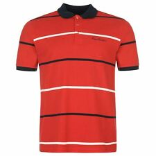 Pierre Cardin Mens Yarn Dye Polo Shirt Red New With Tags