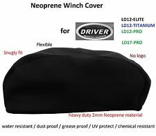Driver Winch Neoprene Cover 12000 to 17000lbs Snugly Fit Weatheproof Top Quality