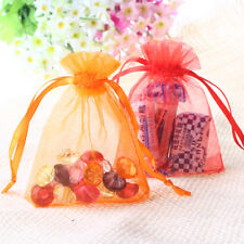 100pcs 7*9cm Sheer Organza Wedding Party Favor Decoration Gift Candy Pouch Bags