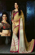 Bollywood Designer Sarees-Princess Catelog Saree With Heavy Work Blouse.