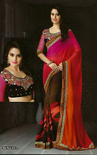 Bollywood Designer Sarees-Princess Catelog Saree With Heavy Work Blouse...