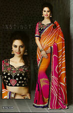 Bollywood Designer Sarees-Princess Catelog Saree With Heavy Work Blouse..
