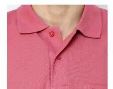 Maddock - Pink Polo Neck T-Shirt with collar and pocket