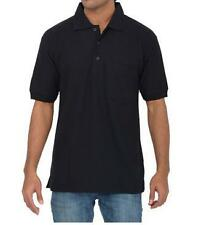 Maddock - Black Polo Neck T-Shirt with collar and pocket