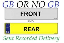 Car Number Plates, Registration Plates GB WITH BORDER OR NO GB NO BORDER