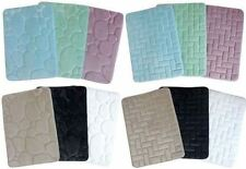 Soft Memory Foam Brick Pattern Shower Bath Mat Bathroom with Non Slip Back 43x61