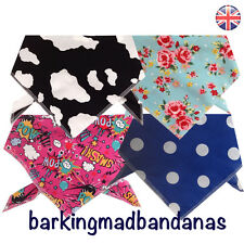 Dog Bandanas, Handmade Bandanas UK, Neck Scarf, Dog Clothing, Dog Supplies