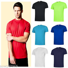 Mens T-Shirt Ultra Cool 100% Polyester Textured Breathable Sports Size XS to 3XL