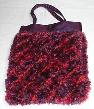 """Hand Crafted Unique Bag - 11"""" x  9"""" - Knitted, Stitched & Lined - Bag Lot#5"""