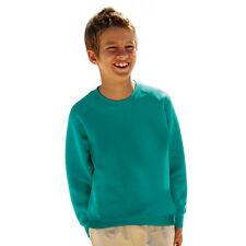 Kinder Fruit Of The Loom Raglan Langärmeliges Sweatshirt, 10 hemd farben